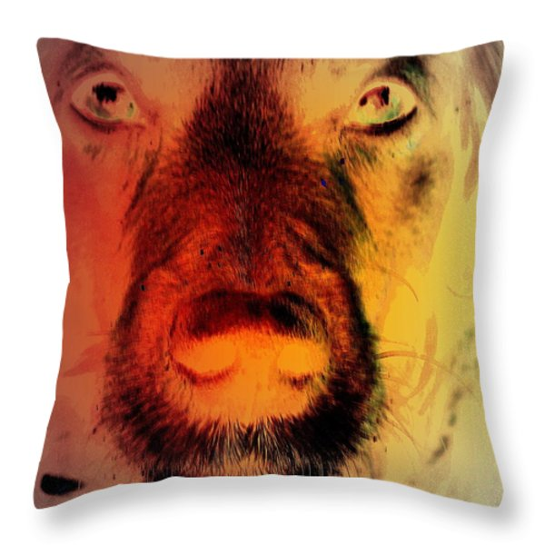 changing back Throw Pillow by Hilde Widerberg