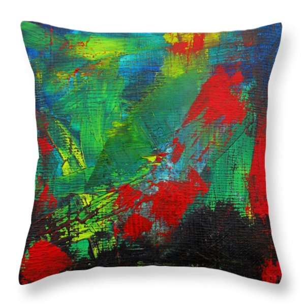 Chaotic Hope Throw Pillow by Patricia Awapara