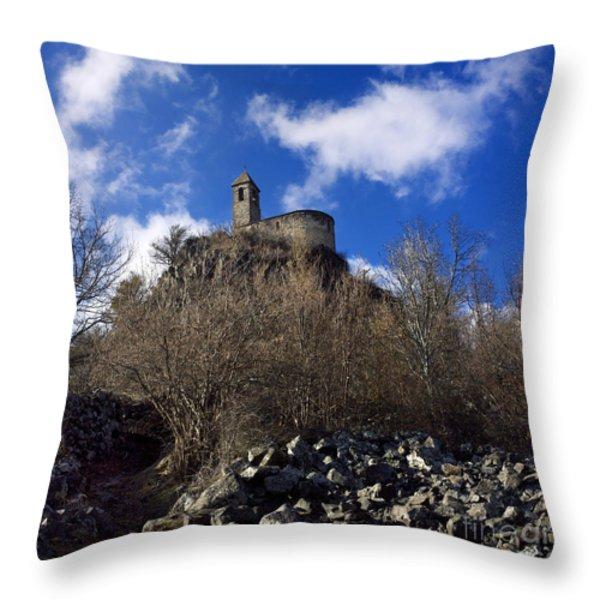 Chapel. Auvergne. France Throw Pillow by BERNARD JAUBERT