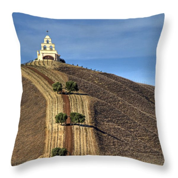 Chapel Hill Throw Pillow by Donna Kennedy