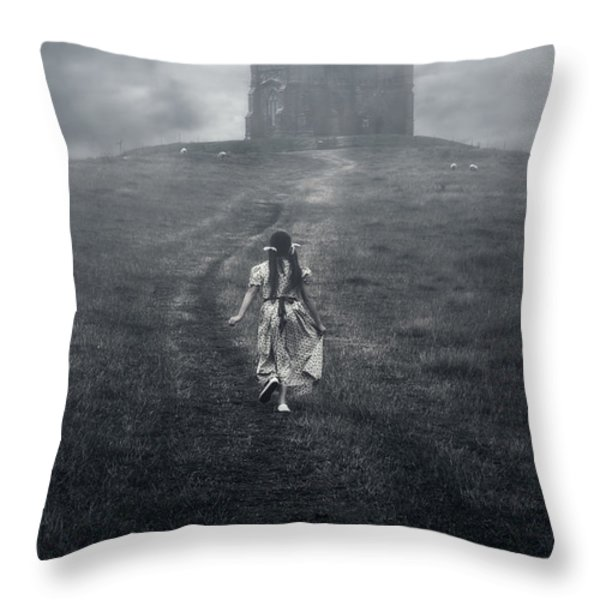 Chapel In Mist Throw Pillow by Joana Kruse