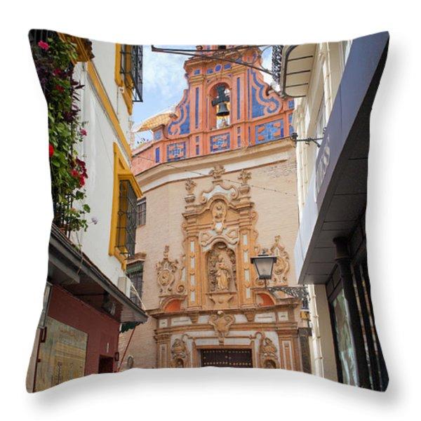 Chapel Of St. Joseph Of Seville Throw Pillow by Artur Bogacki