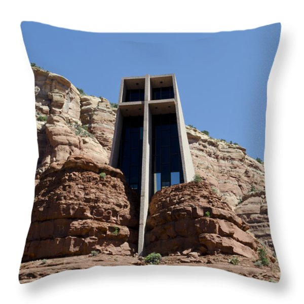 Chapel Of The Holy Cross Throw Pillow by David Gordon