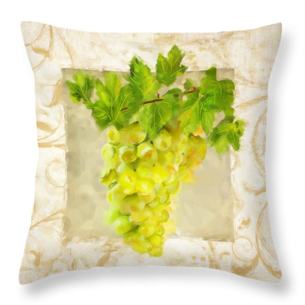 Chardonnay II Throw Pillow by Lourry Legarde
