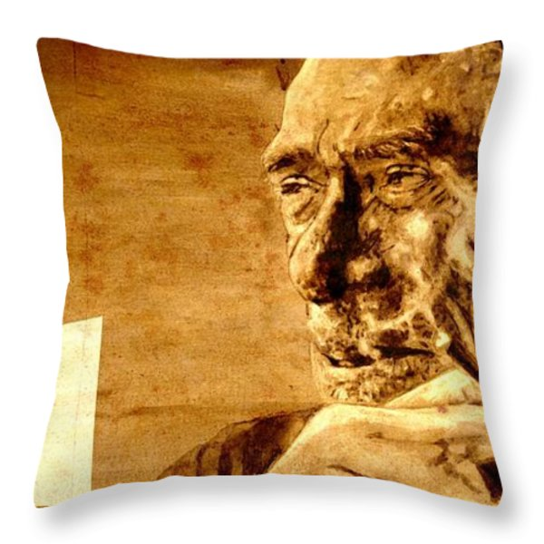 Charles Bukowski - The Love Version Throw Pillow by Richard Tito