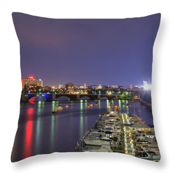 Charles River Country Club Throw Pillow by Joann Vitali