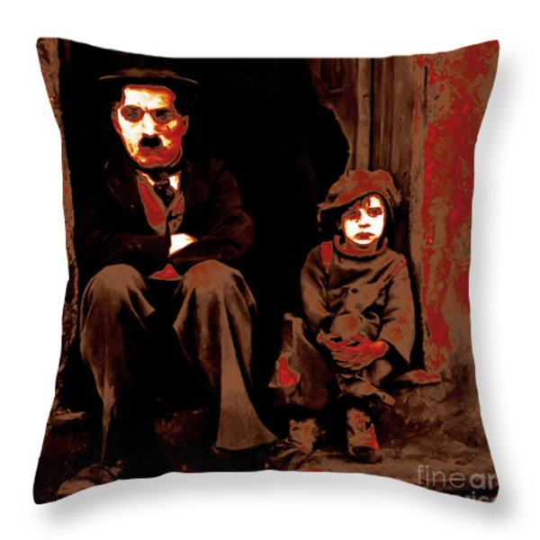 Charlie Chaplin 20130212-2-square Throw Pillow by Wingsdomain Art and Photography