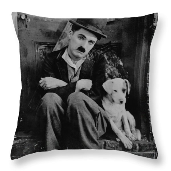Charlie Chaplin Throw Pillow by Gianfranco Weiss