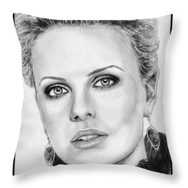 Charlize Theron In 2008 Throw Pillow by J McCombie