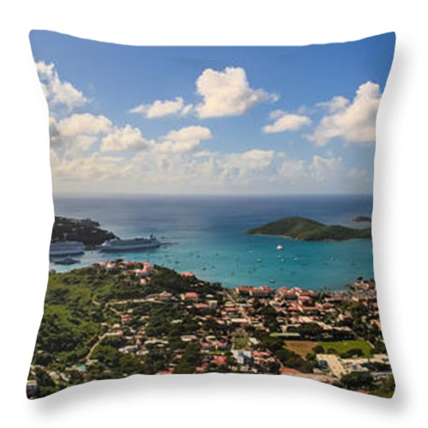 Charlotte Amalie St. Thomas Throw Pillow by Keith Allen