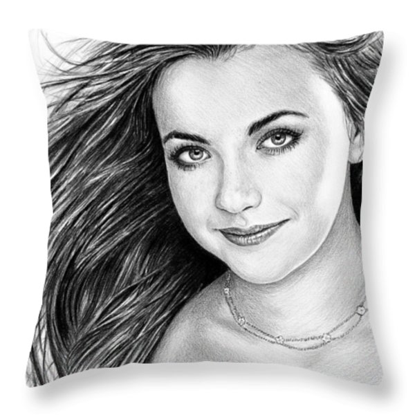 Charlotte Church Throw Pillow by Andrew Read