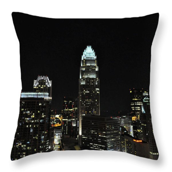 Charlotte Night CNP Throw Pillow by Jim Brage
