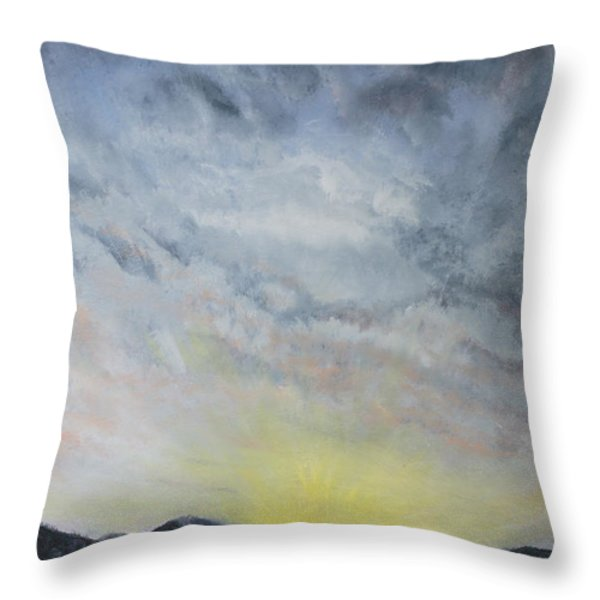 Chase Away The Dark Throw Pillow by Jane Autry