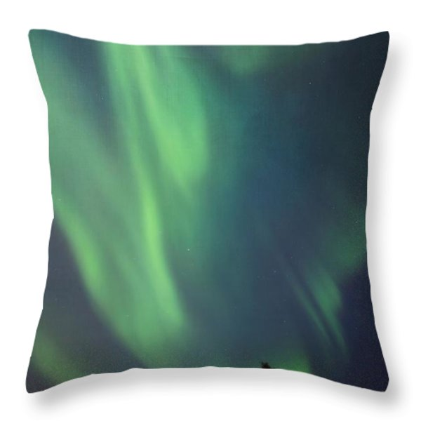 chasing lights II with textures Throw Pillow by Priska Wettstein