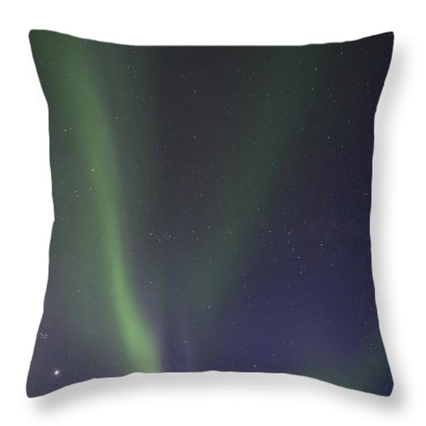 chasing lights Throw Pillow by Priska Wettstein