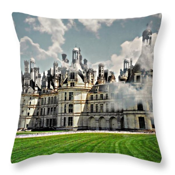 Chateau de Chenonceau Throw Pillow by Diana Angstadt