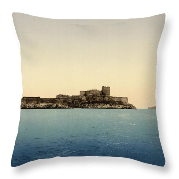 Chateau D'if Throw Pillow by Nomad Art And  Design