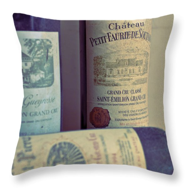 Chateau Petit Faurie de Soutard Throw Pillow by Nomad Art And  Design