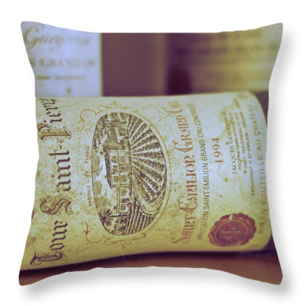 Chateau Tour Saint Pierre Throw Pillow by Nomad Art And  Design