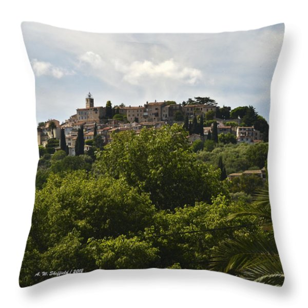 Chateauneuf Du Grasse Throw Pillow by Allen Sheffield