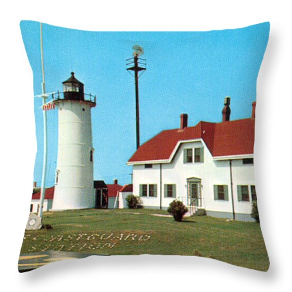 CHATHAM LIGHT 1950 Throw Pillow by Skip Willits