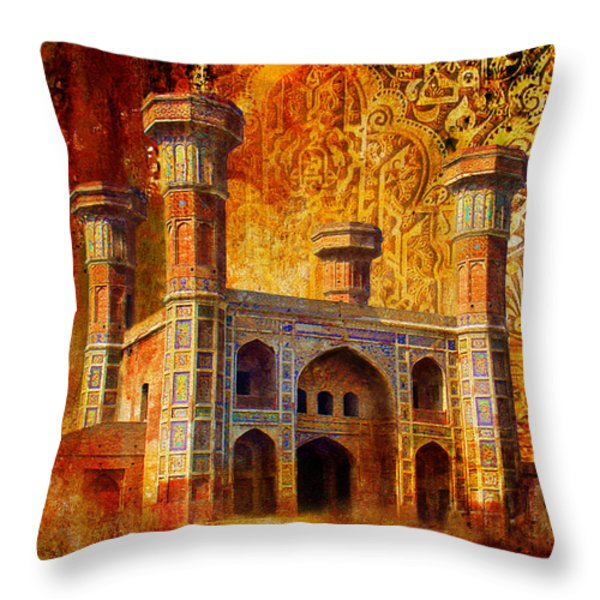 Chauburji Gate Throw Pillow by Catf