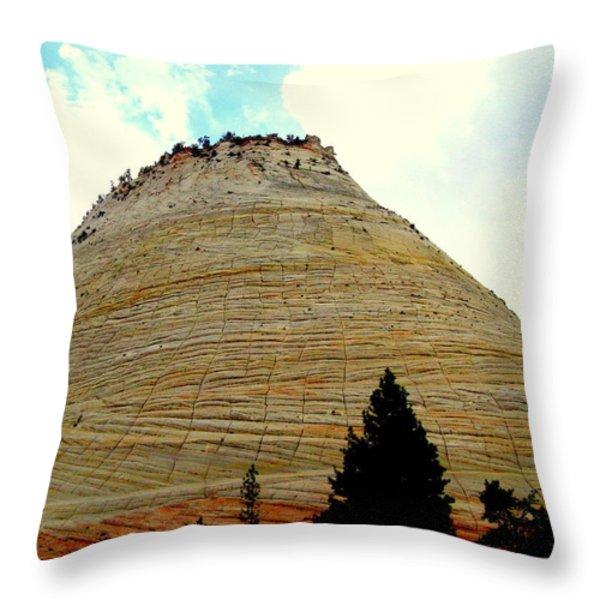 Checkerboard Mesa  Throw Pillow by J Allen
