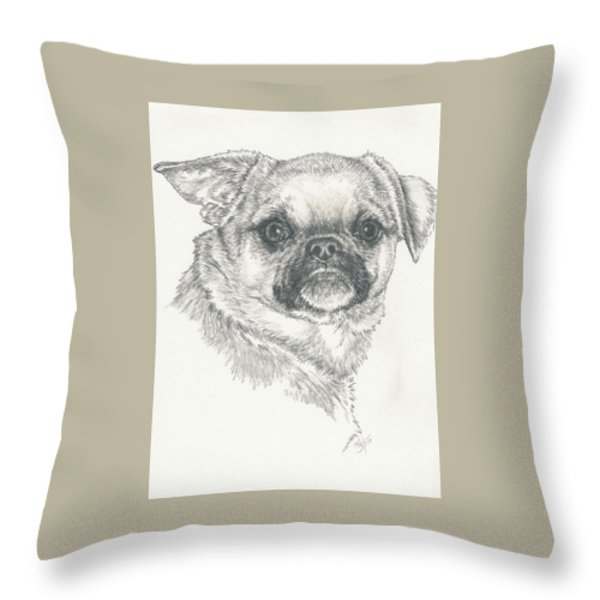 Cheeky Cheeks Throw Pillow by Barbara Keith