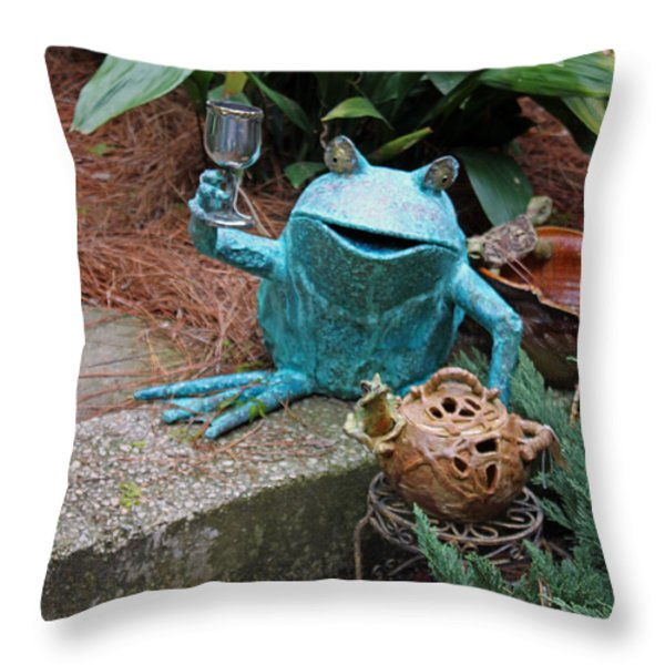 Cheers Throw Pillow by Suzanne Gaff