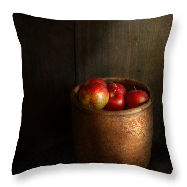 Chef - Fruit - Apples Throw Pillow by Mike Savad