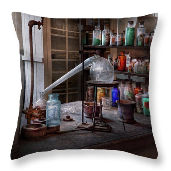 Chemist - My Retort is better than yours  Throw Pillow by Mike Savad