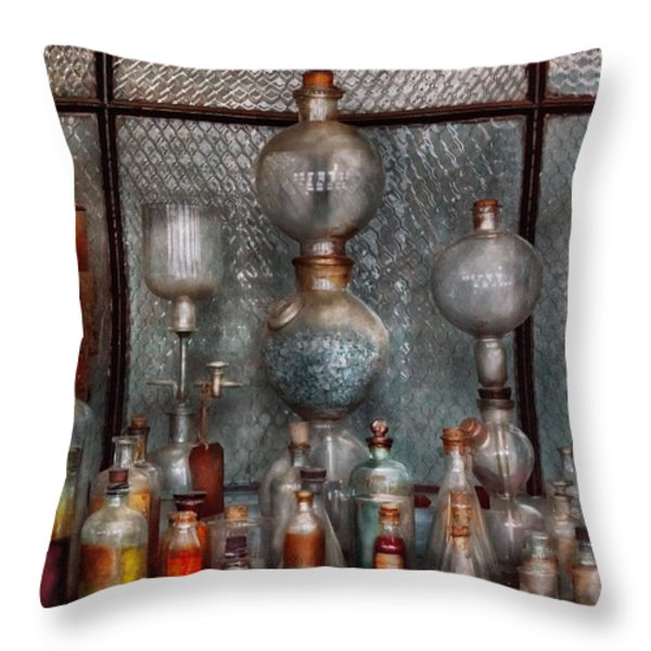 Chemist - The Apparatus Throw Pillow by Mike Savad