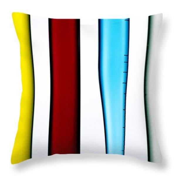 Chemistry Throw Pillow by BERNARD JAUBERT
