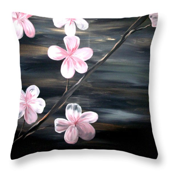 Cherry Blossom Throw Pillow by Mark Moore