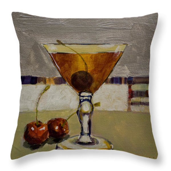 Cherry Bomb Throw Pillow by Sue  Darius