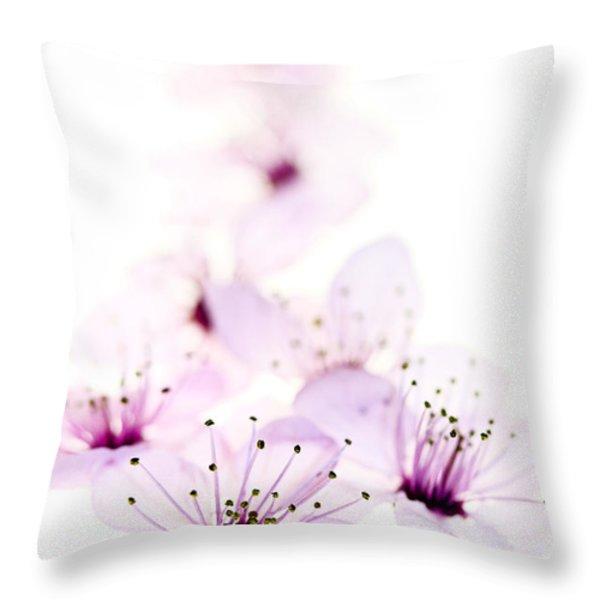 Cherry Cascade Throw Pillow by Rebecca Cozart