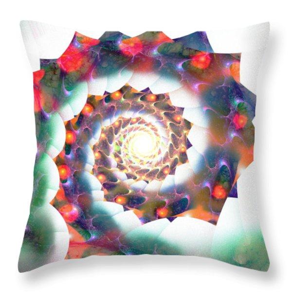 Cherry Swirl Throw Pillow by Anastasiya Malakhova