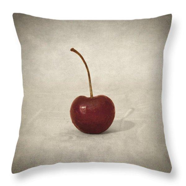Cherry Throw Pillow by Taylan Soyturk