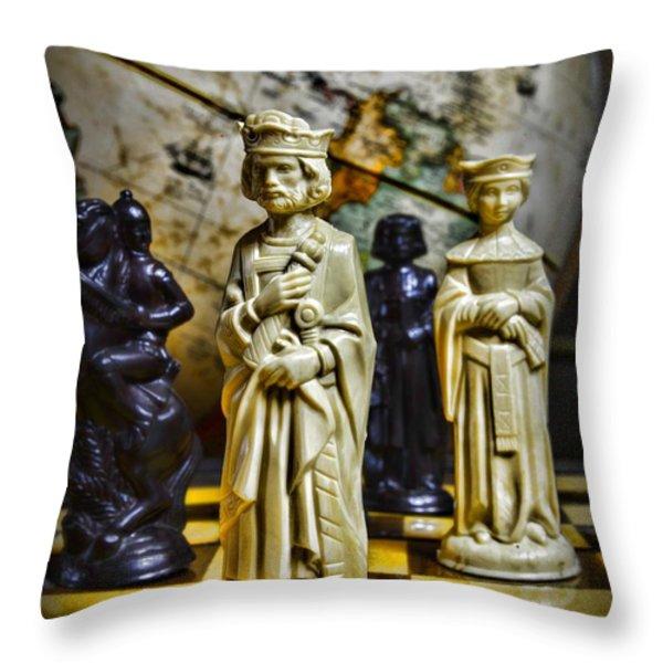 Chess - The Sacrifice Throw Pillow by Paul Ward