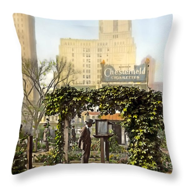 Chesterfield Cigarettes Throw Pillow by Terry Reynoldson