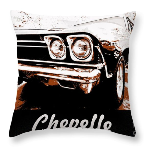 Chevelle Pop Art Throw Pillow by Cheryl Young