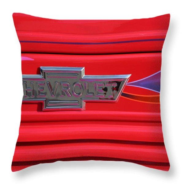 Chevrolet Emblem Throw Pillow by Carol Leigh