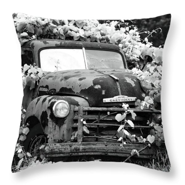 Chevrolet History Throw Pillow by John Rizzuto