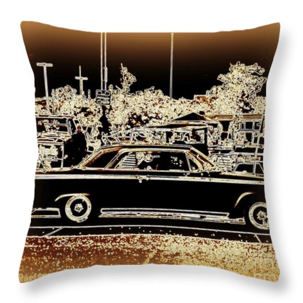 Chevy Glow Throw Pillow by Bobbee Rickard