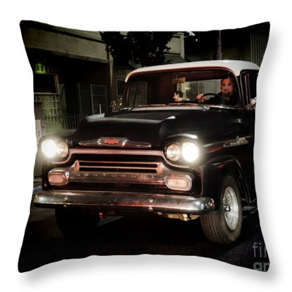 Chevy Pickup Truck Throw Pillow by Nina Prommer