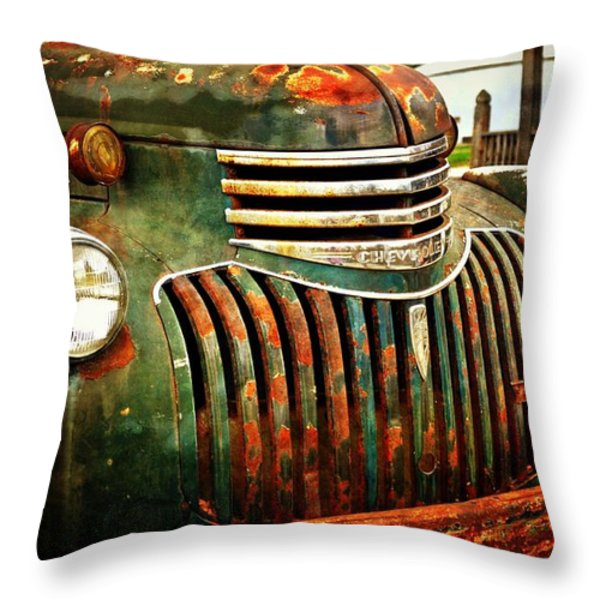 Chevy Truck Throw Pillow by Marty Koch