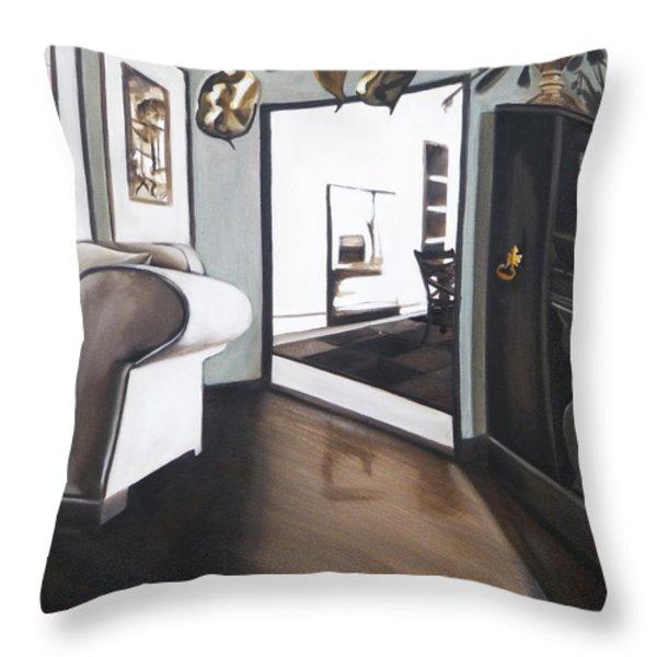 Chez Moi Throw Pillow by Erin Brinkman