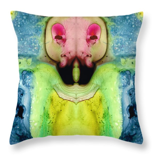 Chi Ant - Aka Mr Happy Bug By Sharon Cummings Throw Pillow by Sharon Cummings