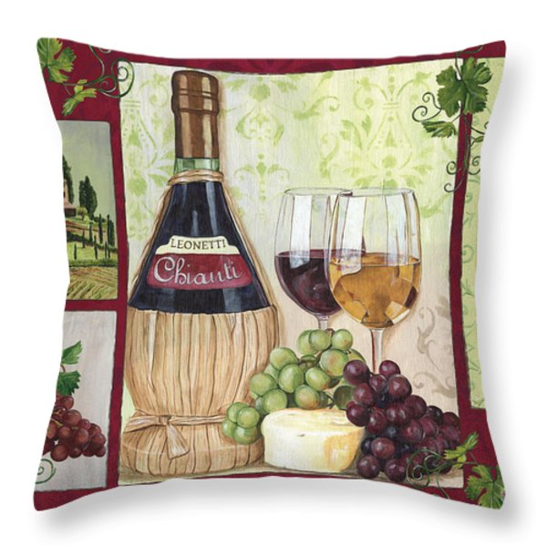 Chianti and Friends 2 Throw Pillow by Debbie DeWitt