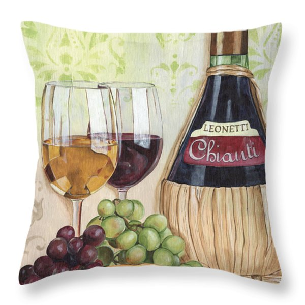 Chianti and Friends Throw Pillow by Debbie DeWitt